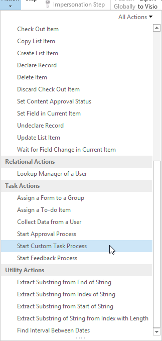 menu-custom task process