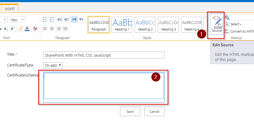HTML form SharePoint 3