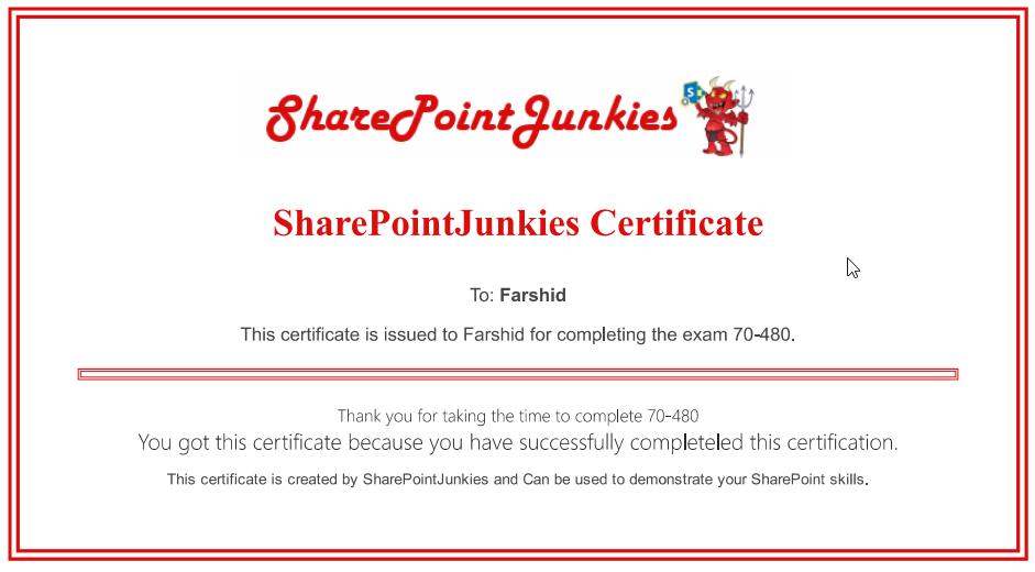HTML form SharePoint 6