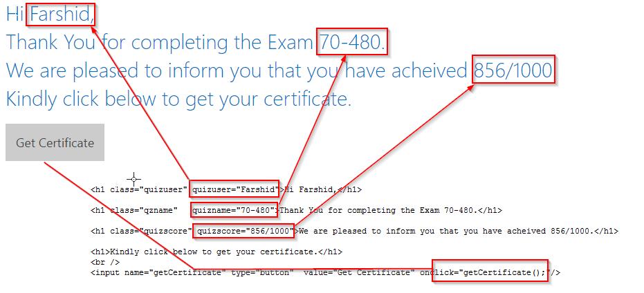 HTML form SharePoint 7